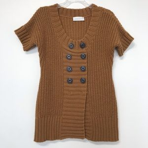 Soft Surroundings cognac chunky knit sweater top
